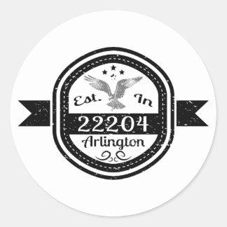 Hergestellt in 22204 Arlington Runder Aufkleber