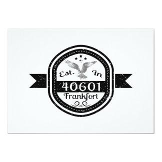 Hergestellt in 40601 Frankfort Karte