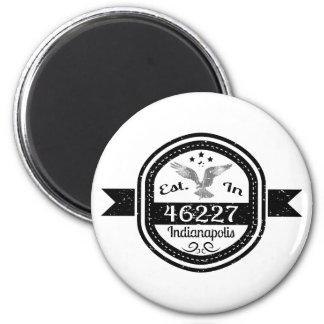 Hergestellt in 46227 Indianapolis Runder Magnet 5,7 Cm