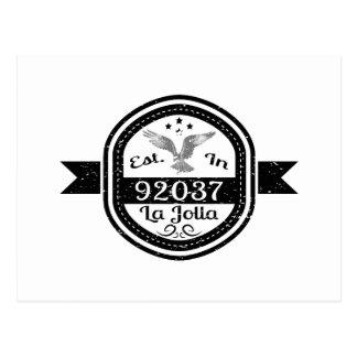 Hergestellt in 92037 La Jolla Postkarte