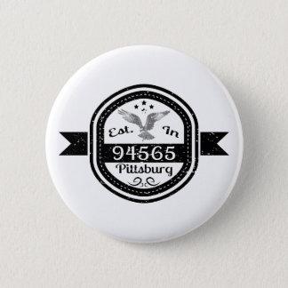 Hergestellt in 94565 Pittsburg Runder Button 5,1 Cm
