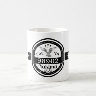 Hergestellt in 98902 Yakima Kaffeetasse