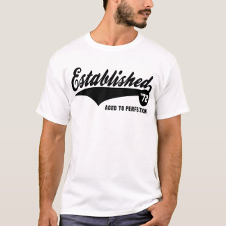 Hergestellte 72 - Geburtstags-Shirt T-Shirt