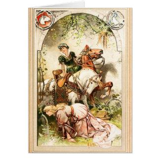 Hermann Vogel - das Gans-Mädchen Karte