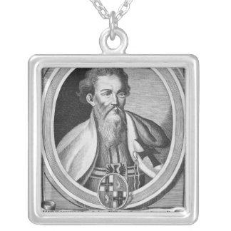 Hermann von Salza Halskette Mit Quadratischem Anhänger