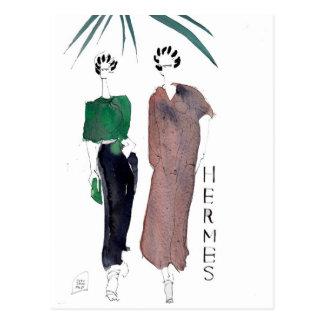 Hermes arbeiten Postkarte durch PARISDREAMTIME um