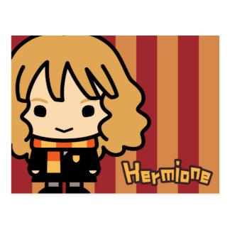 Hermione Granger Cartoon-Charakter-Kunst Postkarte