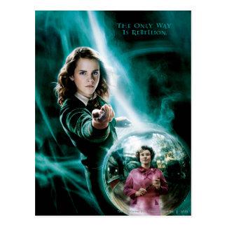 Hermione Granger und Professor Umbridge Postkarte