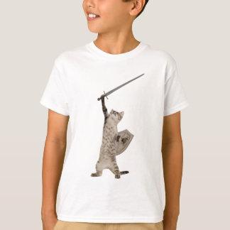 Heroische Kriegers-Ritter-Katze T-Shirt