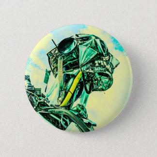 Herr Blue Runder Button 5,1 Cm