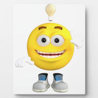 Herr Brainy das dieses Emoji Lieben zu denken Fotoplatte