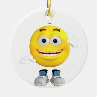 Herr Brainy das dieses Emoji Lieben zu denken Keramik Ornament