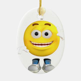 Herr Brainy das dieses Emoji Lieben zu denken Ovales Keramik Ornament