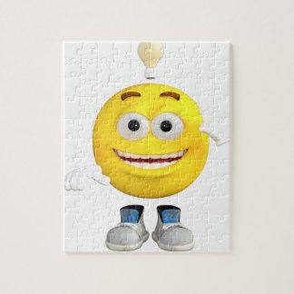 Herr Brainy das dieses Emoji Lieben zu denken Puzzle