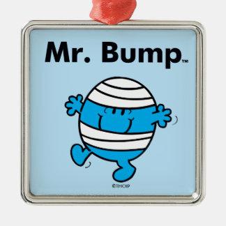 Herr Bump Herr-Men   ist ein Clutz Silbernes Ornament