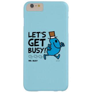 Herr Busy | ließ uns beschäftigten schwarzen Text Barely There iPhone 6 Plus Hülle