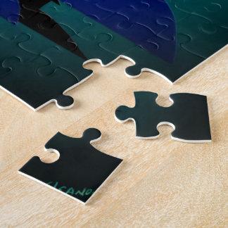 Herr Cool Camel nachts mit Puzzle