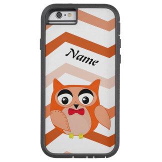 Herr Eule ist eine niedliche orange und braune Tough Xtreme iPhone 6 Hülle