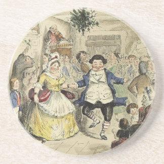 Herr Fezziwig Dancing, ein Weihnachten Carol Bierdeckel