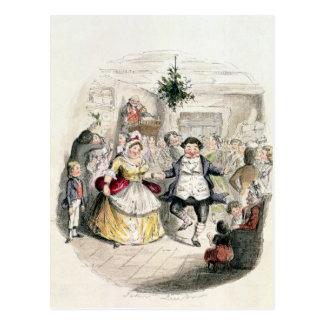 Herr Fezziwigs Ball, von 'einem Weihnachten Carol Postkarte