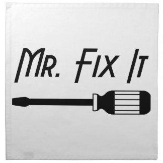 Herr Fix It Stoffserviette