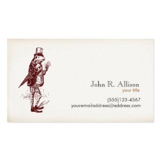 Herr-Frosch-Telefonkarte Visitenkarten