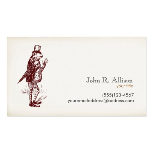 Herr-Frosch-Telefonkarte Visitenkartenvorlagen