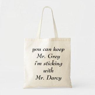 Herr Grey gegen Herrn Darcy Budget Stoffbeutel