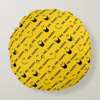 Herr Happy | alle lächelt Muster Rundes Kissen
