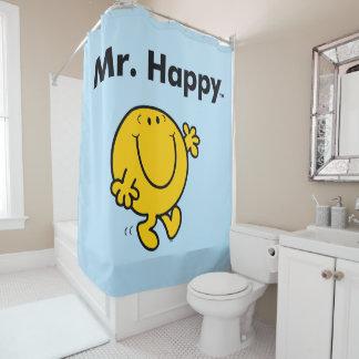 Herr Happy Is Always Happy Herr-Men   Duschvorhang