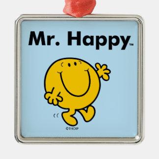 Herr Happy Is Always Happy Herr-Men   Silbernes Ornament