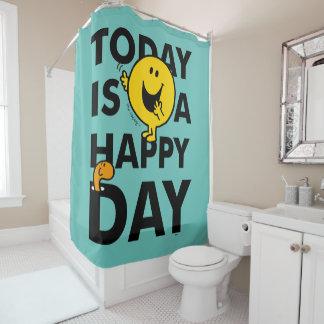 Herr Happy   ist heute ein glücklicher Tag Duschvorhang