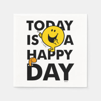 Herr Happy | ist heute ein glücklicher Tag Papierserviette