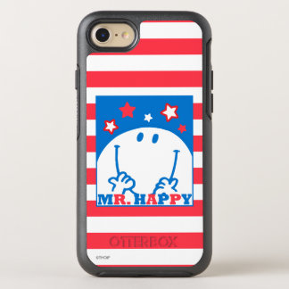 Herr Happy Patriotic Red White und Blau-Ikone 2 OtterBox Symmetry iPhone 8/7 Hülle