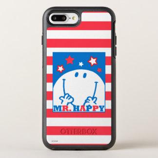 Herr Happy Patriotic Red White und Blau-Ikone 2 OtterBox Symmetry iPhone 8 Plus/7 Plus Hülle