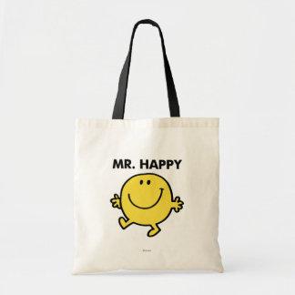 Herr Happy tanzendes u. lächelndes | Budget Stoffbeutel