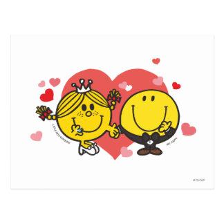 Herr Happy u. kleines Fräulein Sunshine Wedding Postkarte