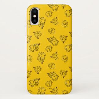 Herr Happy u. kleines gelbes Muster iPhone X Hülle