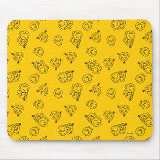 Herr Happy u. kleines gelbes Muster Mauspads