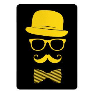 Herr-Hipster Mini-Visitenkarten