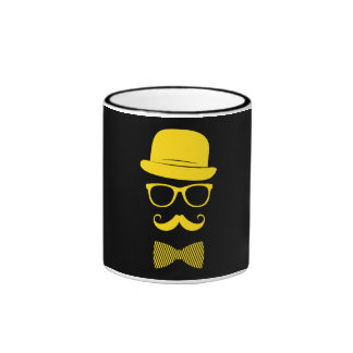 Herr-Hipster Ringer Tasse