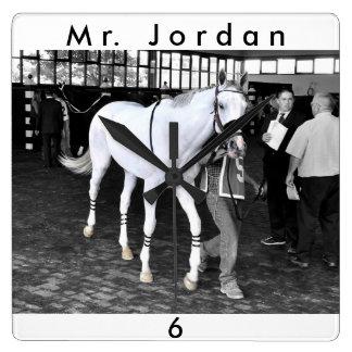 Herr Jordanien Quadratische Wanduhr