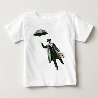 Herr Magic u. sein Fliegen Regenschirm Baby T-shirt
