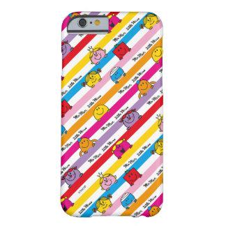 Herr Men u. kleines Regenbogen-Streifen-Muster Barely There iPhone 6 Hülle