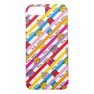 Herr Men u. kleines Regenbogen-Streifen-Muster iPhone 8/7 Hülle