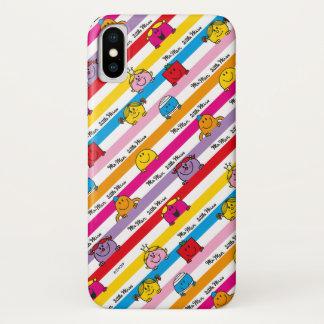 Herr Men u. kleines Regenbogen-Streifen-Muster iPhone X Hülle