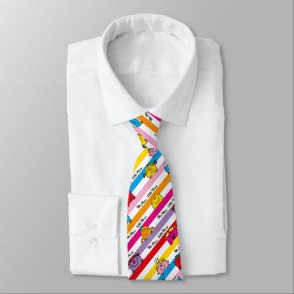 Herr Men u. kleines Regenbogen-Streifen-Muster Krawatte