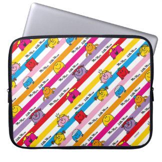Herr Men u. kleines Regenbogen-Streifen-Muster Laptopschutzhülle