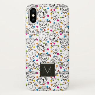 Herr Men u. kleines Regenbogen-Tupfen-Muster iPhone X Hülle