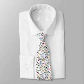 Herr Men u. kleines Regenbogen-Tupfen-Muster Krawatte